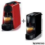 Cafeteira Nespresso Essenza Mini Vermelho 220V - C30-BR + Cafeteira Nespresso Essenza Mini Preto 220V - C30-BR
