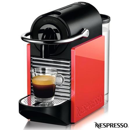 Cafeteira Nespresso Pixie Clips White and Coral Neon para Cafe Espresso, 110V, 220V, Branco e Coral, Espresso automática, Cápsulas, 0,7 Litros, 19 Bars, 01 xícara, Café espresso, Não especificado, Não especificado, 12 meses
