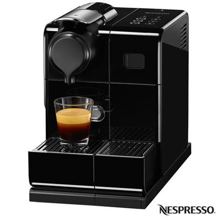 Cafeteira Nespresso Lattissima Touch Preta para Café Espresso, 110V, 220V, Espresso automática, Cápsulas, 0,9 Litros, 19 Bars, 01 xícara, Diversos sabores, Não especificado, Não especificado