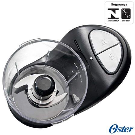 Mini Processador de Alimentos Oster com 02 Velocidades, Capacidade de 0,7 Litros e Função Pulsar - 3320, 110V, 220V, Preto, 02, 0,7 Litros, 125 W, 12 meses