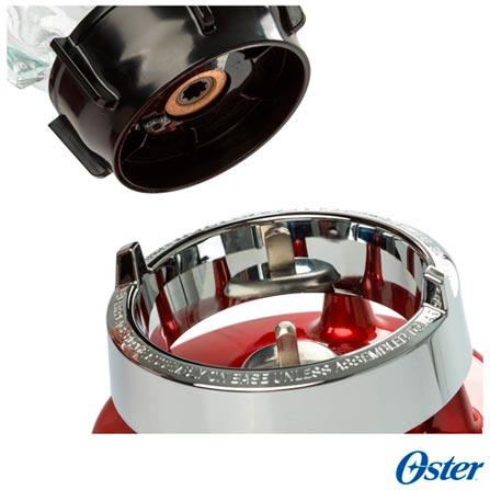 Liquidificador Oster Clássico com 03 Velocidades e 1,25 Litros de Capacidade Vermelho - 4126, 110V, 220V, Vermelho, Vidro, 3, 1,25 Litros, Não, 600 W, Importado, 12 meses