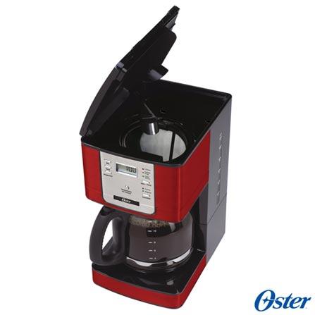 Forno Elétrico Oster Convection Cook para Tostar, Assar e Grelhar 220V + Cafeteira Oster para Café em Pó Vermelha 220V, 1, Até 60 litros