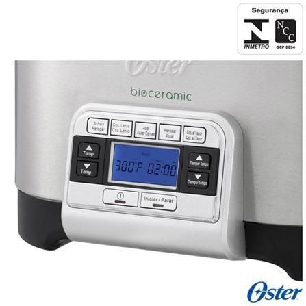Panela Elétrica Bioceramic™ 5 em 1 Oster - CKSTSCMC6, 110V, 220V, Preto, Panela Elétrica, 5,6 Litros, Sim, Sim, Não, 1200 W, 12 meses