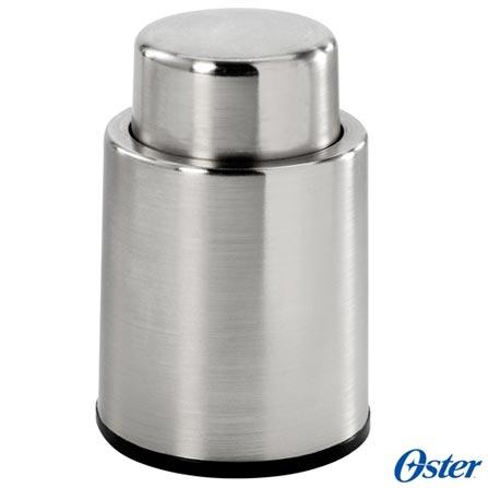 Kit para Vinhos Oster com Abridor Elétrico - FPSTBW8055-011, Prata, 12 meses, Aço Inoxidável