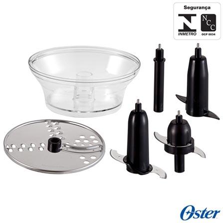 Multiprocessador de Alimentos Oster com 2 Velocidades, Capacidade de 1,4 Litros e Múltiplas Funções - FPSTFP4263DFL017, 110V, 220V, Prata, 12 meses, 2