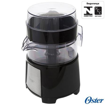 Espremedor de Frutas Oster Jarra de 500 ml - FPSTJU4176, 110V, 220V, Preto e Prata, Espremedor, 0,5 Litros, 01, 110V - 75W e 220V - 50W, 12 meses