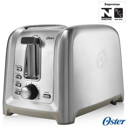 Torradeira Oster Gourmet com 07 Níveis de Ajustes - TSSTTRDFL2, 110V, 220V, Prata, 02 Fatias, 750 W, 12 meses