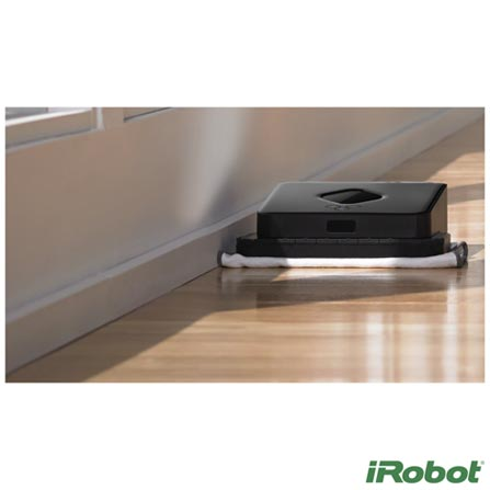 Robo Limpa Piso iRobot Braava 380t Preto, Bivolt, Bivolt, Preto, Não se aplica, 06 meses