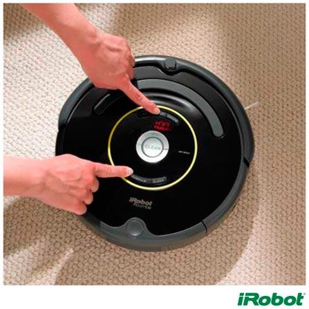 Robô Aspirador de Pó iRobot Roomba 650 com Capacidade de 0,6 Litros - R650400, Bivolt, Bivolt, Preto, 0,6 Litros, Não especificado, Não especificado, Não especificado, Não especificado, 12 meses