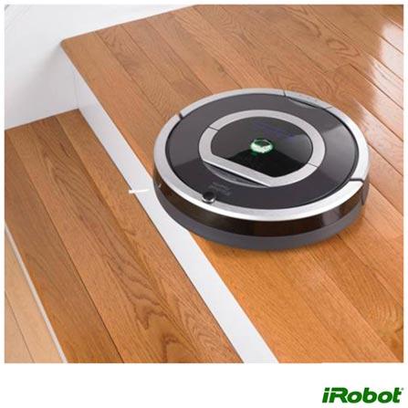 Robô Aspirador de Pó iRobot sem Fio com Capacidade de 0,6 Litros Preto e Cinza Bivolt - R780400, Bivolt, Bivolt, Preto e Cinza, 0,6 Litros, Não especificado, Não especificado, Não especificado, Não especificado, 12 meses