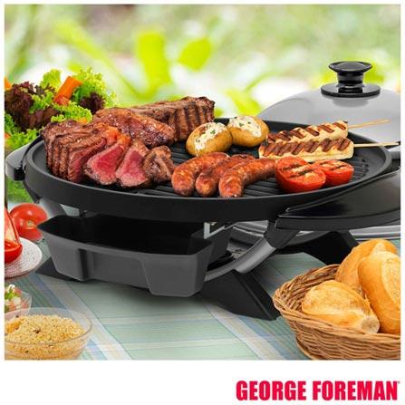 Grill Elétrico Indoor & Outdoor George Foreman com Capacidade para 12 Porções - GGR200, 110V, 12 Porções, Grelhar, 1650 W