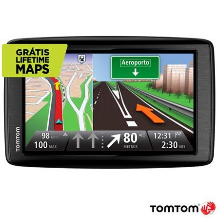 Navegador GPS VIA 1605 M Brasil & EUA Preto Tom Tom – 1EN604901B, Bivolt, Bivolt