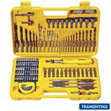 Maleta com Brocas e Ponteiras Tramontina com 110 peças - 43145110