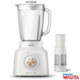 Liquidificador Philips Walita Pro Blend 6 com 05 Velocidades e Jarra de vidro com 1,5 Litros, Branco e Dourado - RI2136