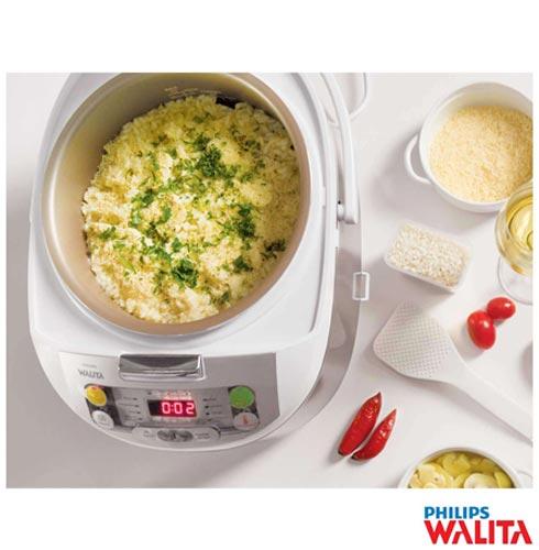 Panela Eletrica Philips Walita Multicooker - RI3237, 110V, 220V, Prata, Panela Elétrica, 5 Litros, Sim, Sim, Sim, 980 W, 24 meses