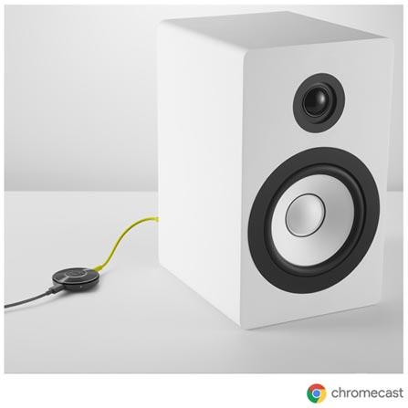 Chromecast Audio Google para Caixas de Som - GA3A00162-A22-Z01, Bivolt, Bivolt, Preto, Adaptadores, 12 meses