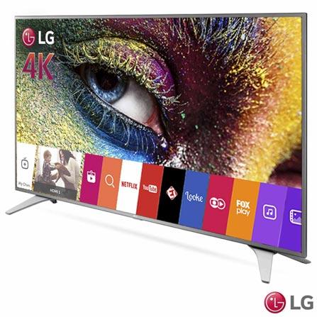 """Smart TV 4K LG LED 49"""" com Magic Mobile Connection, Smart TV webOS 3.0, Controle Smart Magic e Wi-Fi - 49UH6500, Bivolt, Bivolt, Não se aplica, Não, 120 Hz, 12 meses, 4K / UHD, Sim, De 40'' a 49'', 49'', LED"""