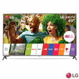 "Smart TV 4K LG LED UHD 49"" webOS 3.5 e Wi-Fi - 49UJ6565"