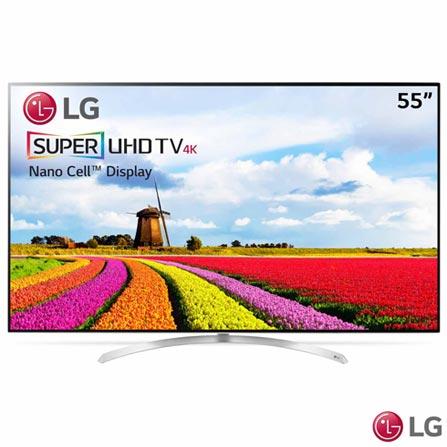"""Smart TV 4K UHD LED LG 55"""" com WebOs 3.5, Controle Smart Magic e Wi-Fi - 55SJ9500, Bivolt, Bivolt, Não se aplica, Não, 240 Hz, 12 meses, 4K / UHD, Sim, De 50'' a 65'', 55'', LED"""