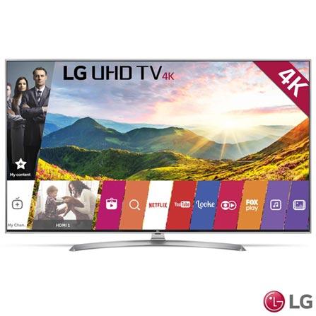 """Smart TV 4K LG LED 55"""" Upscaler 4K, Ultra Luminância, Controle Smart Magic e Wi-Fi - 55UJ7500, Bivolt, Bivolt, Não se aplica, Não, 120 Hz, 12 meses, 4K / UHD, Sim, De 50'' a 65'', 55'', LED"""