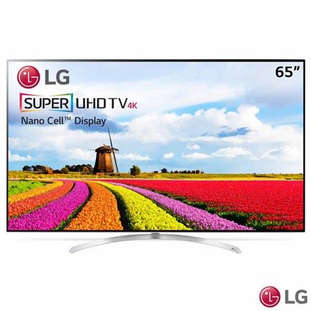 """Smart TV 4K UHD LED LG 65"""" com WebOs 3.5, Controle Smart Magic e Wi-Fi - 65SJ9500, Não se aplica, Não, 240 Hz, 12 meses, 4K / UHD, Sim, De 50'' a 65'', 65'', LED"""