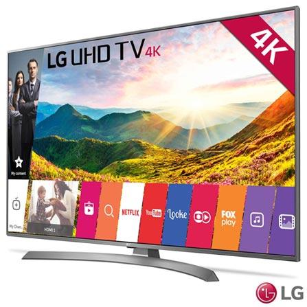 """Smart TV 4K LG LED 65"""" com Upscaler 4K, HDR, Painel IPS 4K, Local Dimming e Wi-Fi - 65UJ6585, Não se aplica, Não, 120 Hz, 12 meses, 4K / UHD, Sim, De 50'' a 65'', 65'', LED"""
