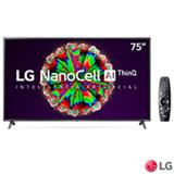 Smart TV NanoCell 4K LG LED 75' com ThinQAI, Google Assistente e Wi-Fi - 75NANO79SNA