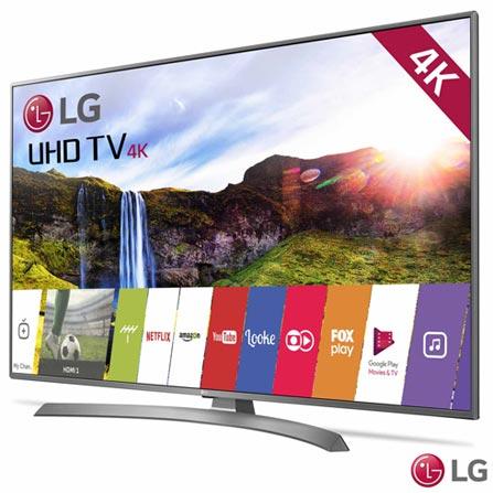 """Smart TV 4K LG LED 75"""" Ultra Slim com Magic Mobile Connection, WebOS 3.5, Quick Access e Wi-Fi - 75UJ6585, Bivolt, Bivolt, Não se aplica, Não, 120 Hz, 12 meses, 4K / UHD, Sim, De 70'' a 105'', 75'', LED"""