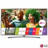 "Smart TV 4K LG LED 75"" Ultra Slim com Magic Mobile Connection, WebOS 3.5, Quick Access e Wi-Fi - 75UJ6585"