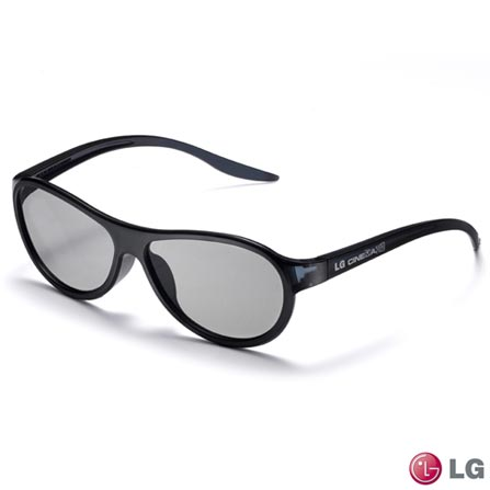 Óculos 3D LG Cinema, Preto, AG-F310, VD, Óculos, 1 ano