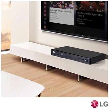 Blu-Ray Player LG 3D FHD com Entrada USB e Saída HDMI - BP450, Bivolt, Bivolt, Preto, Sim, Sim, 12 meses, Sim, Sim, Não