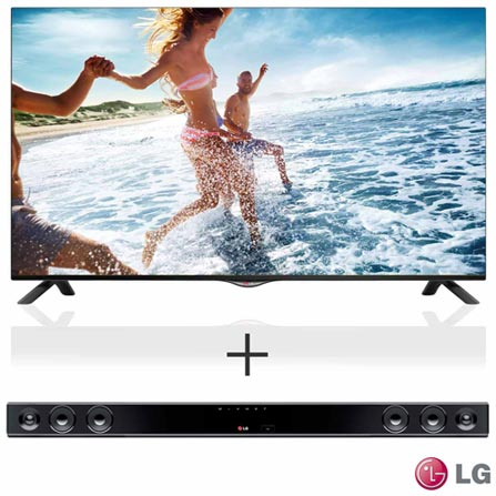 Smart TV 4K LED LG 42 com Time Machine II - 42UB8200 + SoundBar LG com 2.0 Canais - NB2430A, 0, TVs acima de 40''