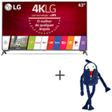 Smart TV 4K LG LED 43 com webOS 3.5, Ultra Surround e Wi-Fi - 43UJ6565 + Boneco Kenny em Plush Azul - Bodobo