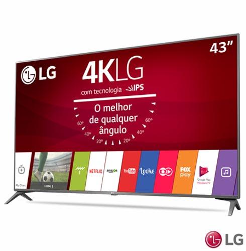Smart TV 4K LG LED 43 com webOS 3.5, Ultra Surround e Wi-Fi - 43UJ6565 + Boneco Kenny em Plush Amarelo - Bodobo, 1, TVs acima de 40''