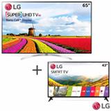 Smart TV 4K UHD LED LG 65 - 65SJ9500 + Smart TV LG LED Full HD 43 -43LJ5550