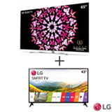 Smart TV 4K LG OLED 65 com Dolby Vision, Dolby Atmos, WebOS 3.5 - OLED65B7P + Smart TV LG LED Full HD 43 - 43LJ5550