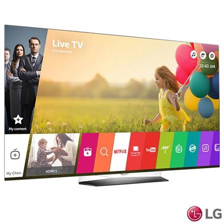 Smart TV 4K LG OLED 55 Ultra Slim, WebOS 3.0, Controle Smart Magic e Wi-Fi - OLED55B6P, Bivolt, Bivolt, Não se aplica, Não, 120 Hz, 12 meses, 4K / UHD, Sim, De 50'' a 65'', 55'', OLED
