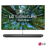 "Smart TV 4K LG OLED 65"" UHD com Soundbar, WebOS 4.0, Controle Smart Magic e Wi-Fi - OLED65W8PSA"
