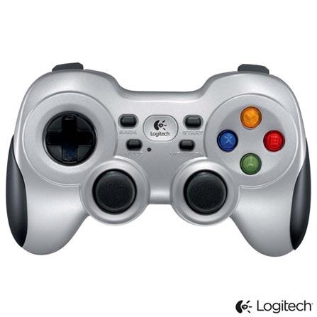 Gamepad Wireless Logitech com D-pad com 04 botões e Plug & Play Cinza e Preto - F710, Cinza e Preto, Periféricos, 36 meses