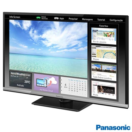 Smart TV Panasonic LED HD 32 com Swipe & Share e Wi-Fi - TC-32CS600, Bivolt, Bivolt, Preto, Não, 60 Hz, 12 meses, HD, Sim, De 26'' a 39'', 32'', LED