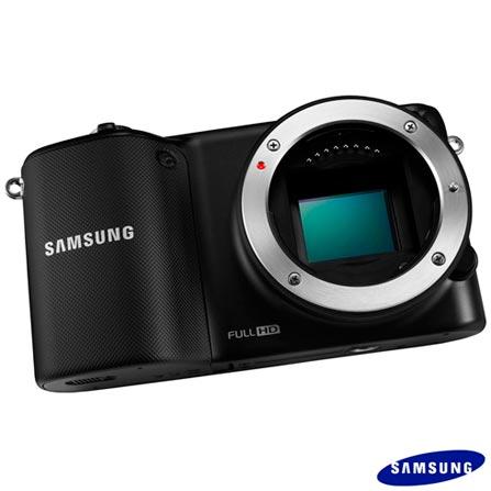2 Câmeras Samsung NX2000 Preta com 20.3 MP, Display de 3.7