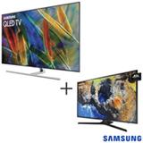 Smart TV Samsung QLED 4K 55 Wi-Fi - QN55Q7FAMGXZD + Smart TV 4K Samsung LED 40 Wi-Fi - UN40MU6100GXZD