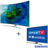 Smart TV Samsung QLED 4K 65, Connect Share - QN65Q8CAMGXZD + Smart TV 4K Samsung LED 49, HDR Premium - UN49KU6450GXZD