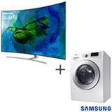Smart TV Samsung QLED 4K 75 - QN75Q8CAMGXZD + Lava & Seca 10,2 Kg Samsung Eco Bubble Branca Lavagem 110V - WD10M44530W