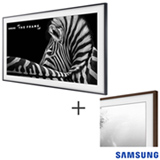 Smart TV 4K UHD Samsung LED 55 The Frame TV, Wi-Fi UN55LS003AGXZD + Moldura Samsung 55 TV LS003 Madeira VG-SCFM55DW/RU
