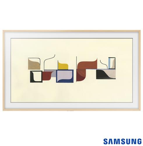 Smart TV 4K UHD Samsung LED 55 The Frame TV UN55LS003AGXZD + Moldura Samsung 55 TV LS003 Madeira Clara VG-SCFM55LW/RU, 1