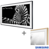 Smart TV 4K UHD Samsung LED 55 The Frame TV UN55LS003AGXZD + Moldura Samsung 55 TV LS003 Madeira Clara VG-SCFM55LW/RU