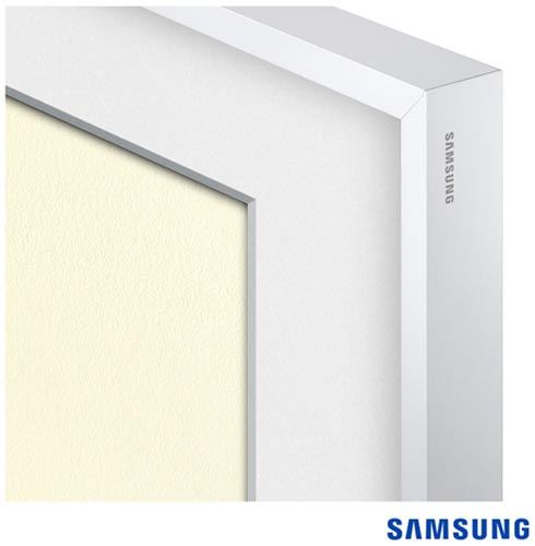 Smart TV 4K UHD Samsung LED 55 The Frame TV UN55LS003AGXZD + Moldura Samsung 55 TV LS003 Madeira Branca VG-SCFM55WM/RU, 1