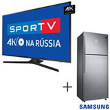Smart TV 4K Samsung LED 65 - UN65MU6100GXZD + Refrigerador de 02 Portas Frost Free, 453 Litros Inox 220V - RT46K6361SL