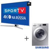 Smart TV 4K Samsung LED 65 - UN65MU6400GXZD + Lava & Seca 10,2 Kg 220V Samsung - WD10M44530S